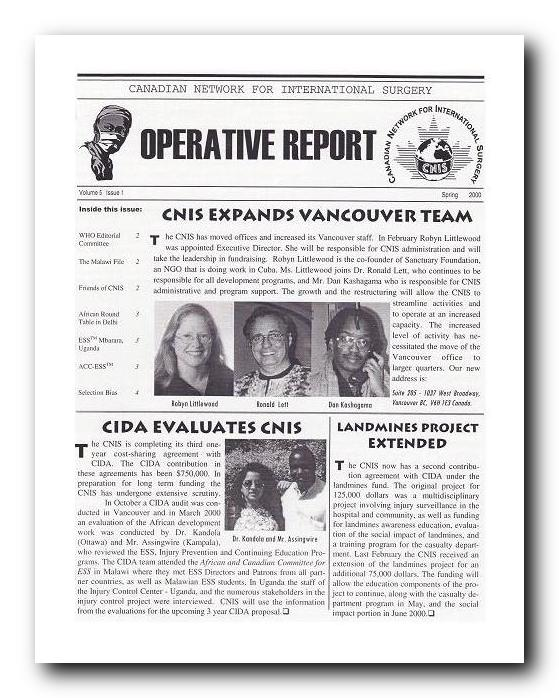Download CNIS Newsletter Spring 2000 PDF