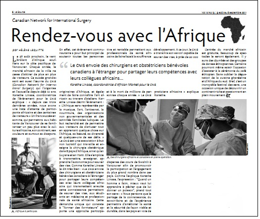 La Source News Article September 2011