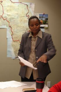 Jackline Ochieng teaches Intermediate Swahili at CNIS
