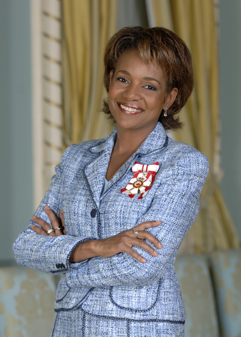 Her Excellency the Right Honourable Michaëlle Jean, C.C., C.M.M., C.O.M., C.D., Governor General and Commander-in-Chief of Canada